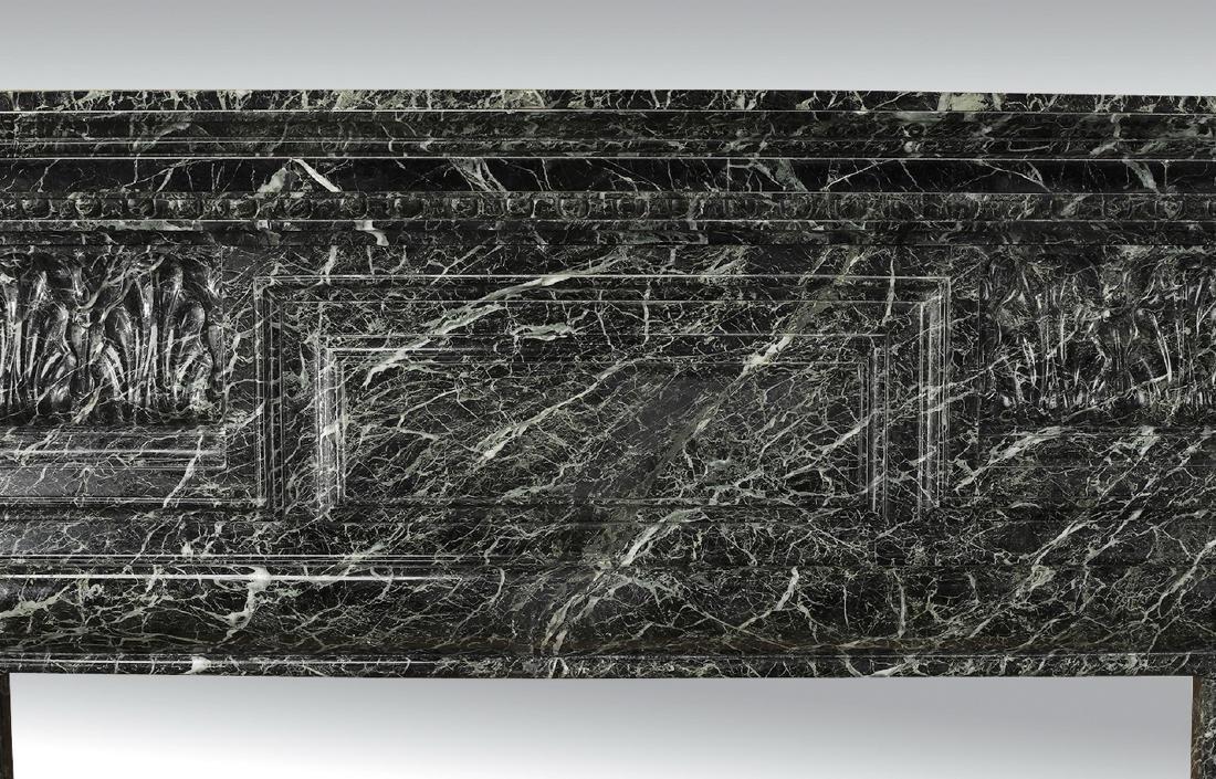 19th c. Italian verde marble mantel - 4
