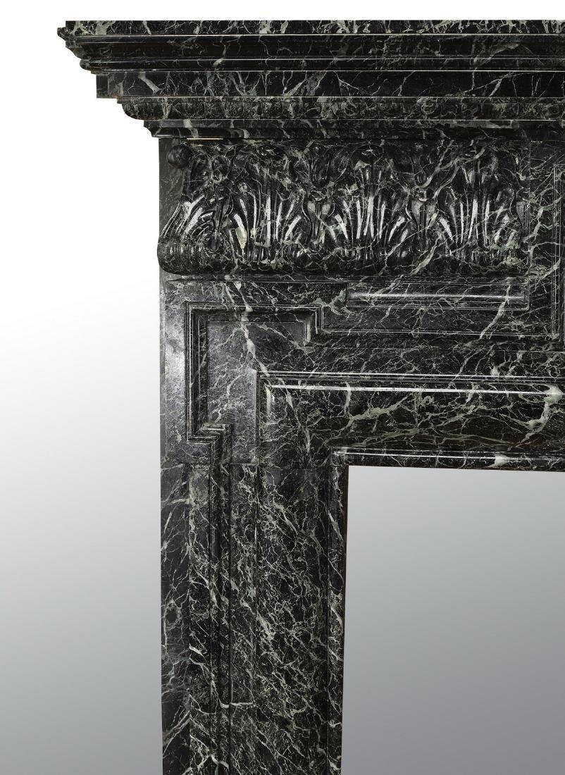 19th c. Italian verde marble mantel - 5