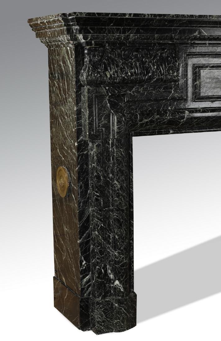 19th c. Italian verde marble mantel - 6