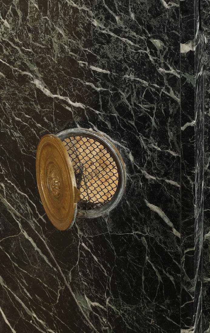 19th c. Italian verde marble mantel - 8