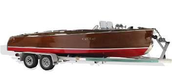 1939 Chris Craft 22 ft. mahogany boat w/ trailer