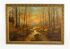 Early 20th c. American O/c river landscape