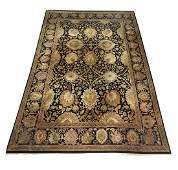 Hand knotted wool Sino-Oushak carpet, 18 x 12