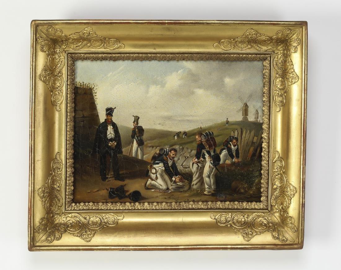 19th c. Dutch O/c military scene
