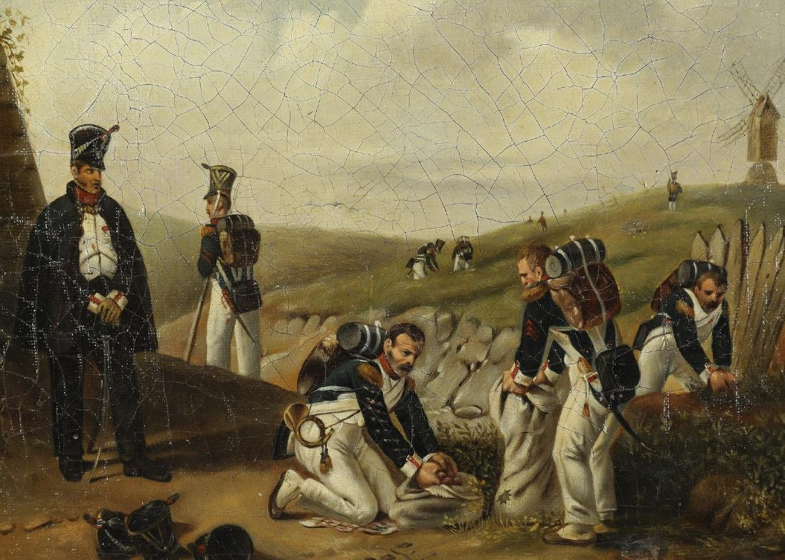 19th c. Dutch O/c military scene - 2