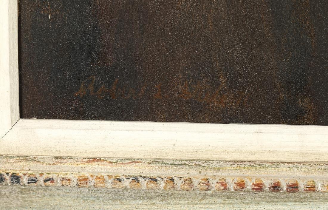 "American School O/b river landscape, signed, 44""w - 3"