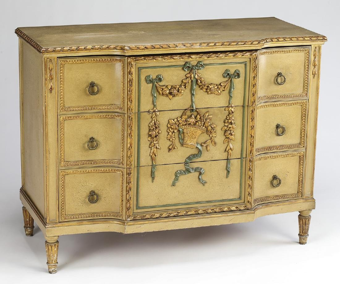 Venetian Rococo style paint-decorated commode