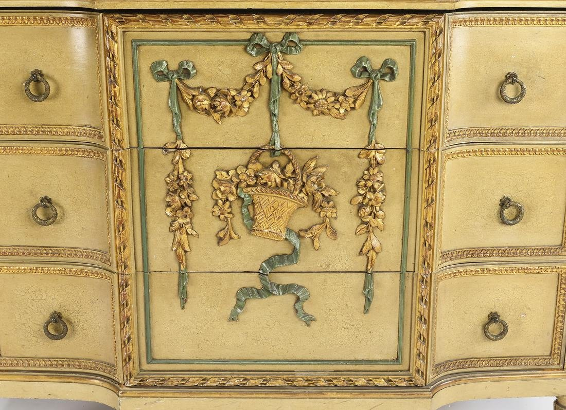 Venetian Rococo style paint-decorated commode - 3