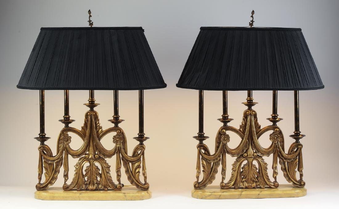 Pair of Maitland-Smith candelabra table lamps