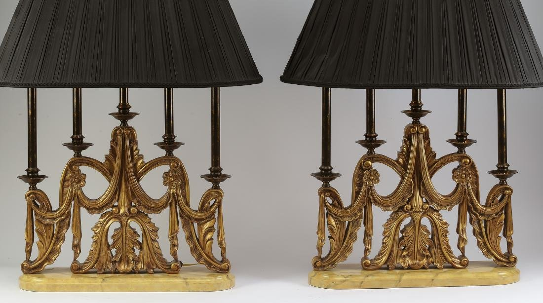 Pair of Maitland-Smith candelabra table lamps - 2