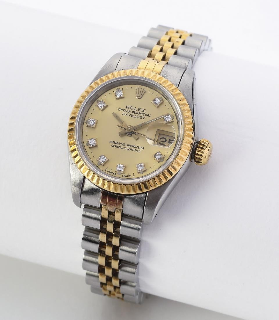 Lady's Rolex Oyster Perpetural Datejust w/ diamonds