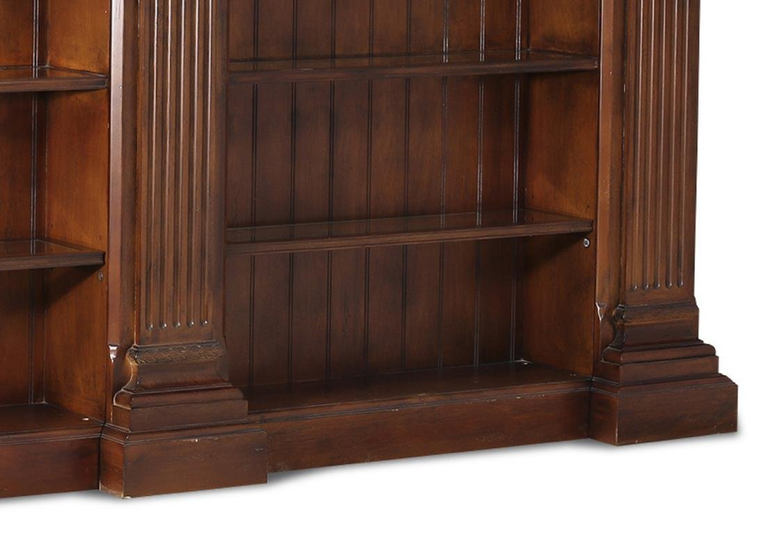 Neoclassical style mahogany bookcase w/ lights - 6