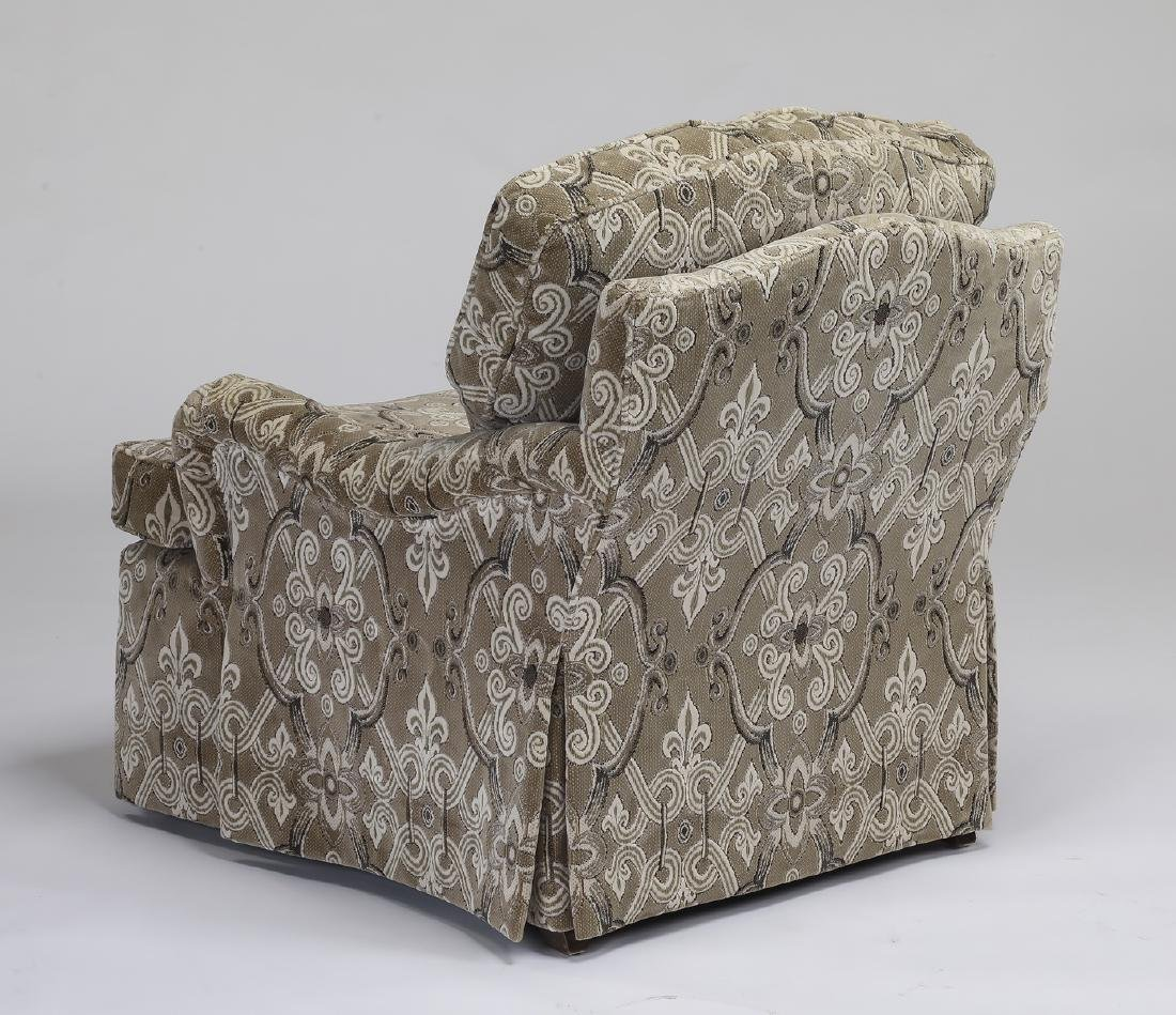 Baker Furniture upholstered armchair and ottoman - 2