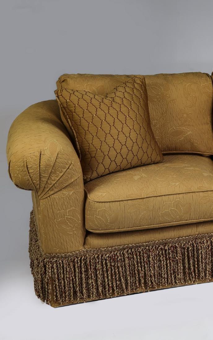 Wesley Hall curving sofa with bullion fringe skirt - 2