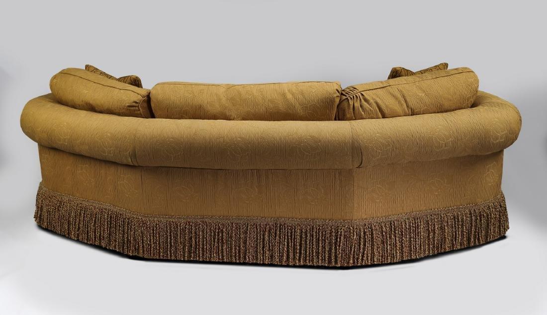 Wesley Hall curving sofa with bullion fringe skirt - 3