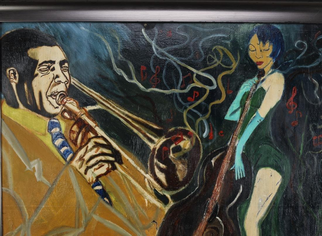 "Grant Mullins signed O/b jazz scene, 53""w - 3"