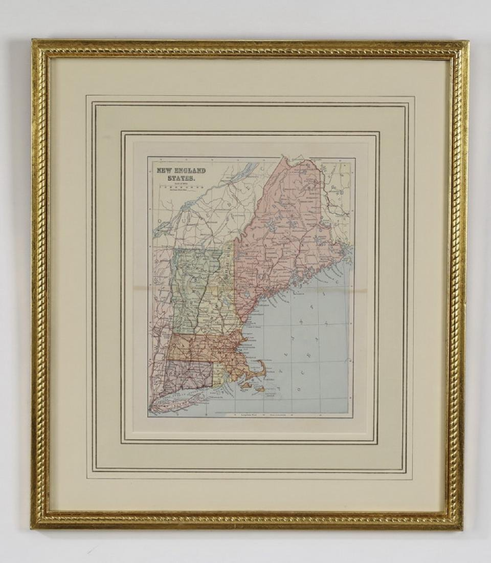(2) Early 20th c. maps, New England & Southern States - 2