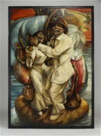 """Alexis Miguel Pantoja Perez (Cuban) O/c, 90""""h"""