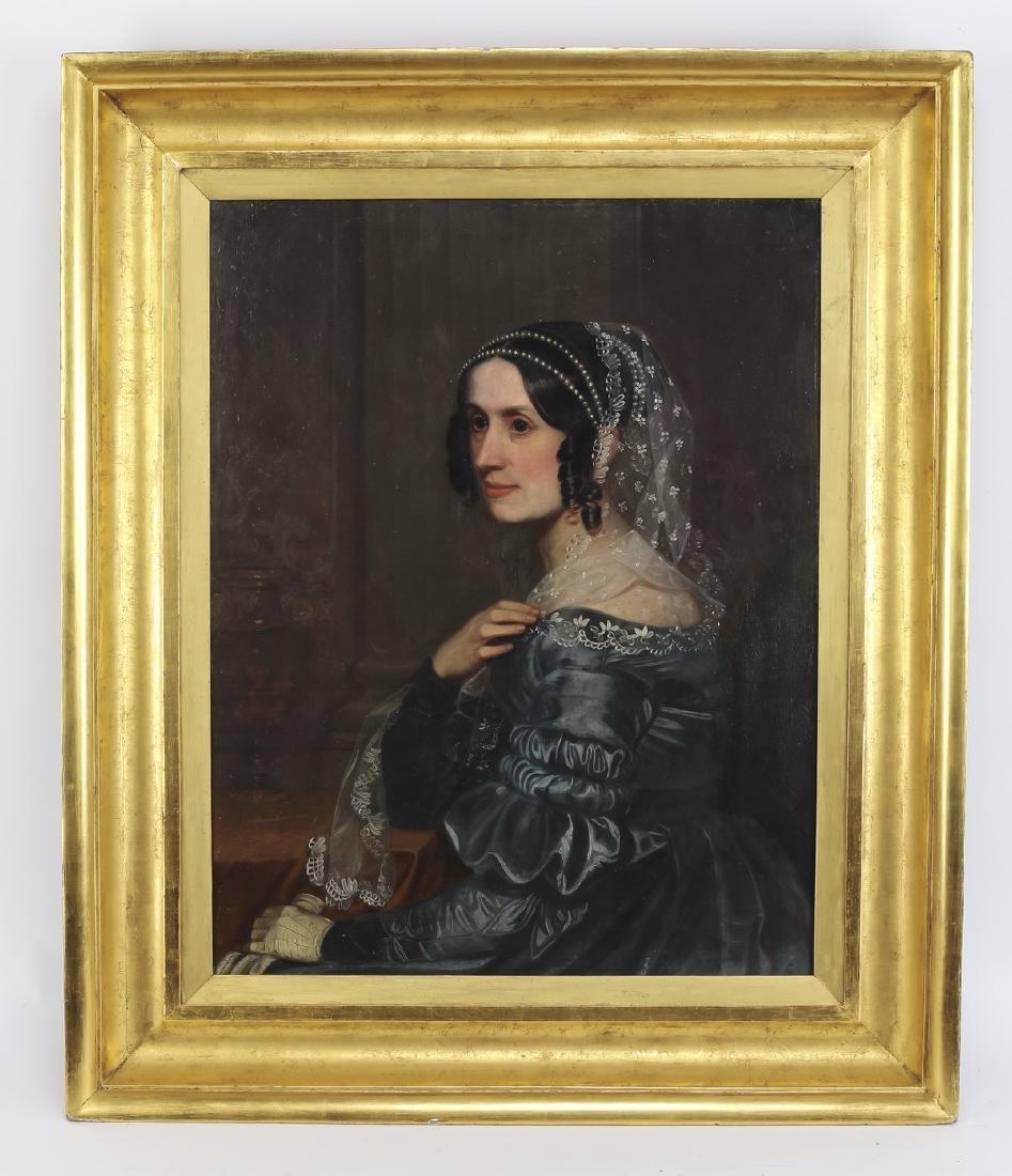 American O/board portrait of a lady, circa 1850