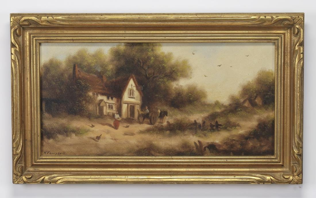 Early 20th c. English School O/c, signed 'Campbell'