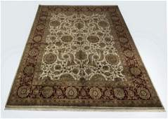Indo-Kerman hand knotted wool rug, 12 x 15
