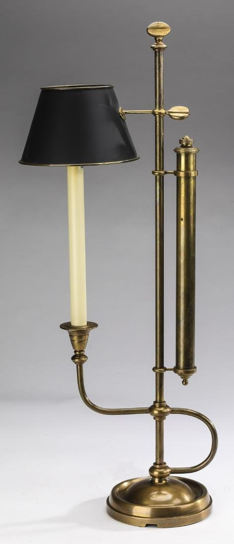"""Bouillotte table lamp w/ tole shade, 30""""h"""