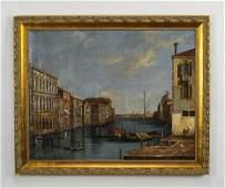 Italian School Oc Venetian canal scene