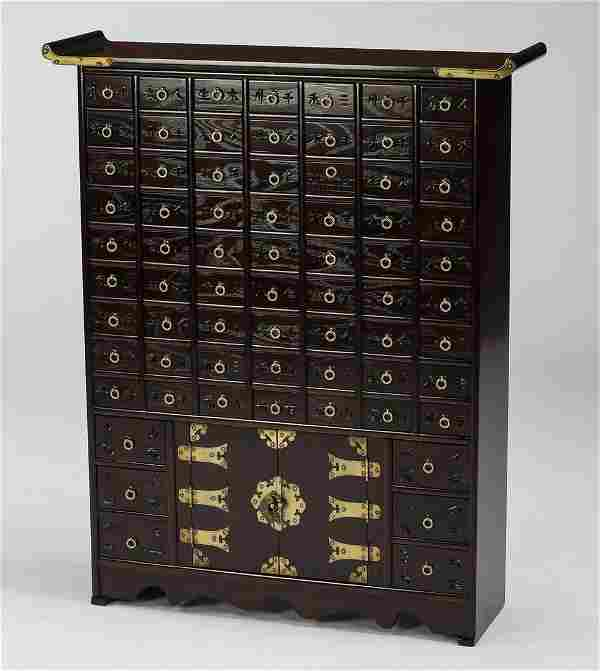 Asian antique style 63 drawer apothecary chest