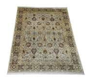Hand knotted wool Sino-Oushak carpet, 14 x 10