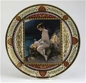 """19th c. Royal Vienna charger 'Psyche', marked, 16""""w"""