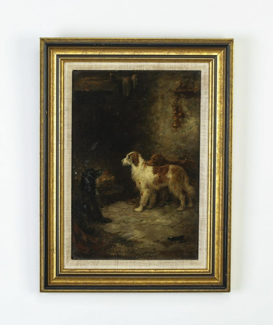 Follower of George  Armfield, O/b of dogs by a hearth