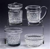 (4) Crystal table accessories including Waterford