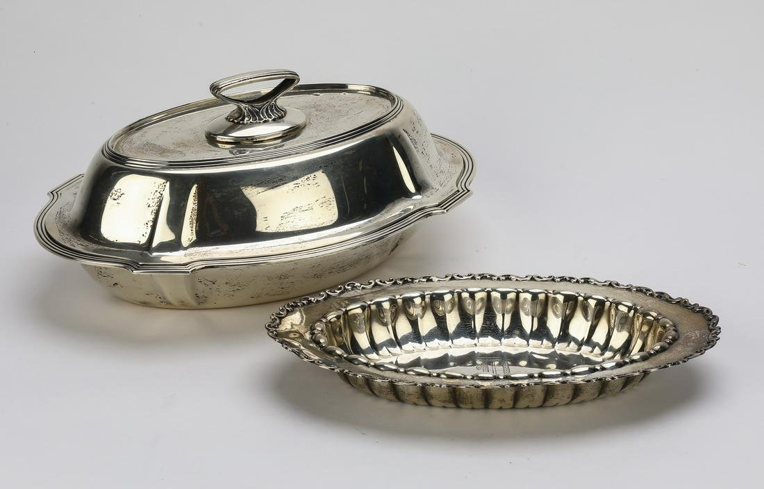 (2) Sterling hollowware serving pieces incld Gorham