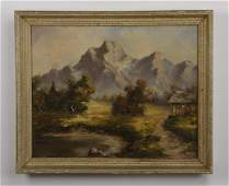Continental Oc mountain landscape signed
