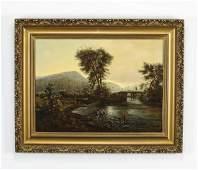 19th c. American O/b fishermen at a river