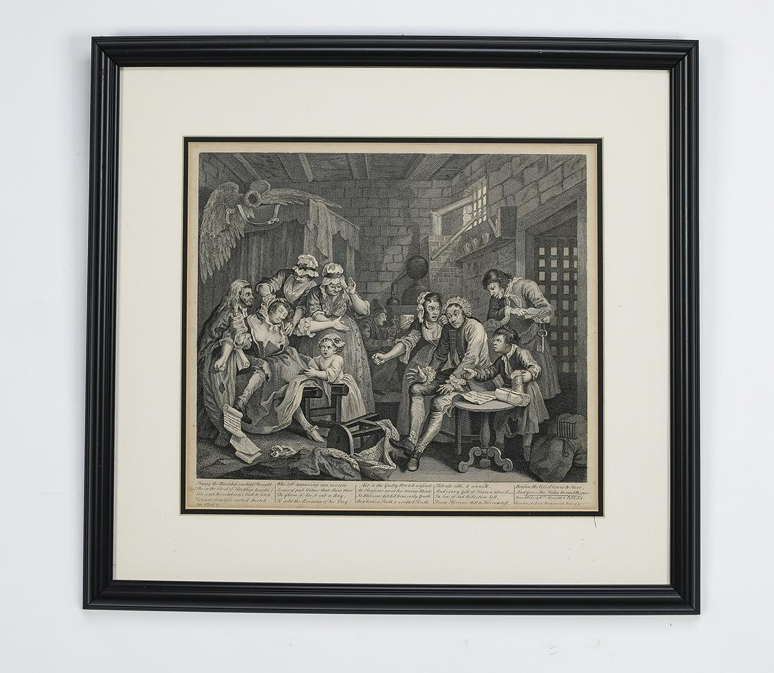 18th c. William Hogarth framed engraving