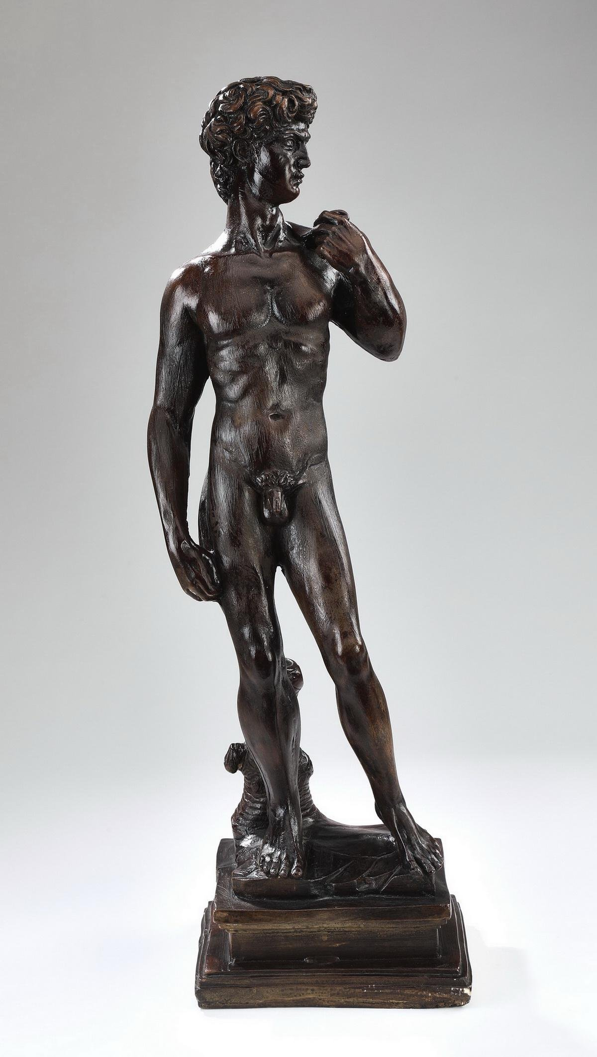 "After 'David' by Michelangelo, 27""h"