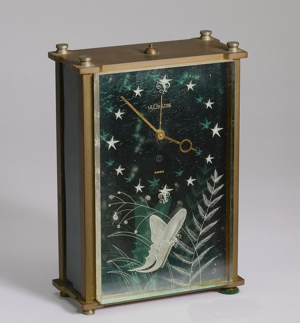 Mid-Century modern LeCoultre musical alarm clock