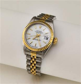 Ladys 18k and stainless Rolex Datejust