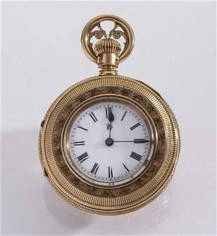 Waltham 14k rose gold pendant watch c 1900