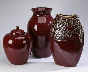 Group of 3 ceramic decorative accents 15 to 21