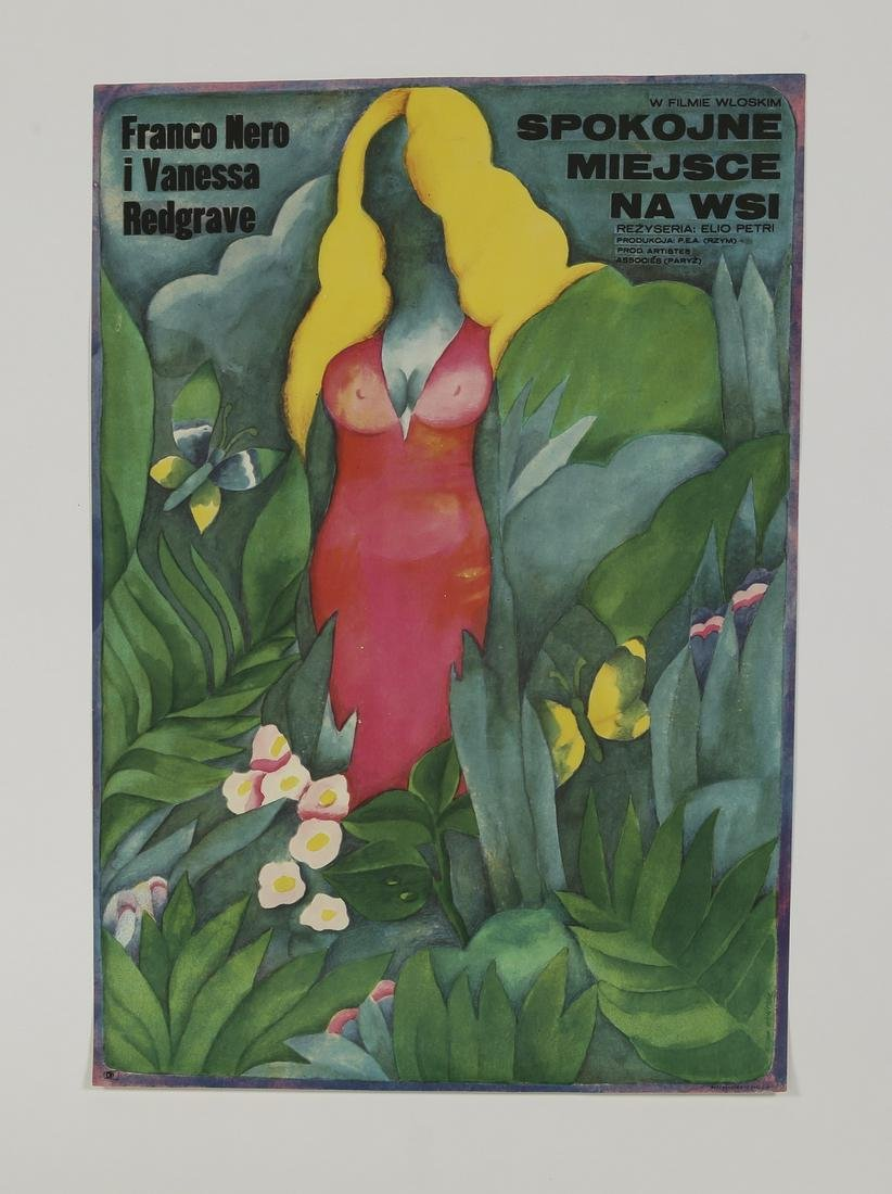 (3) 20th c. Polish film posters, unframed