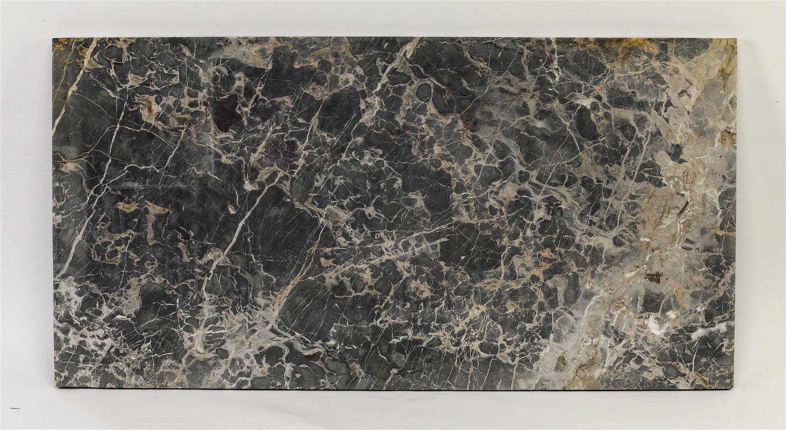 "Rectangular Italian marble top, 49""l"