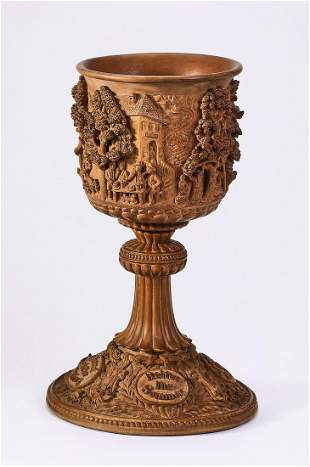 9th c. carved chalice in the Manner of Johann Rint