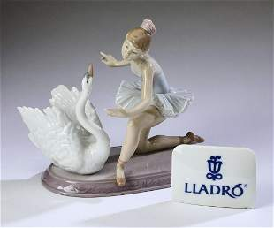"""Lladro 'Graceful Dance,' #6205 and sign, 8""""h."""