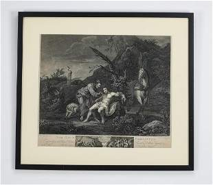 18th c.William Hogarth 'The Good Samaritan' engraving