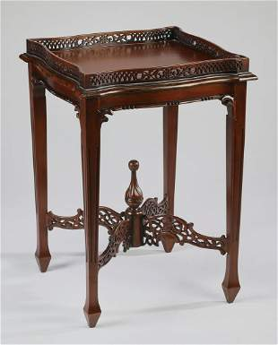 Chinese Chippendale style tea table