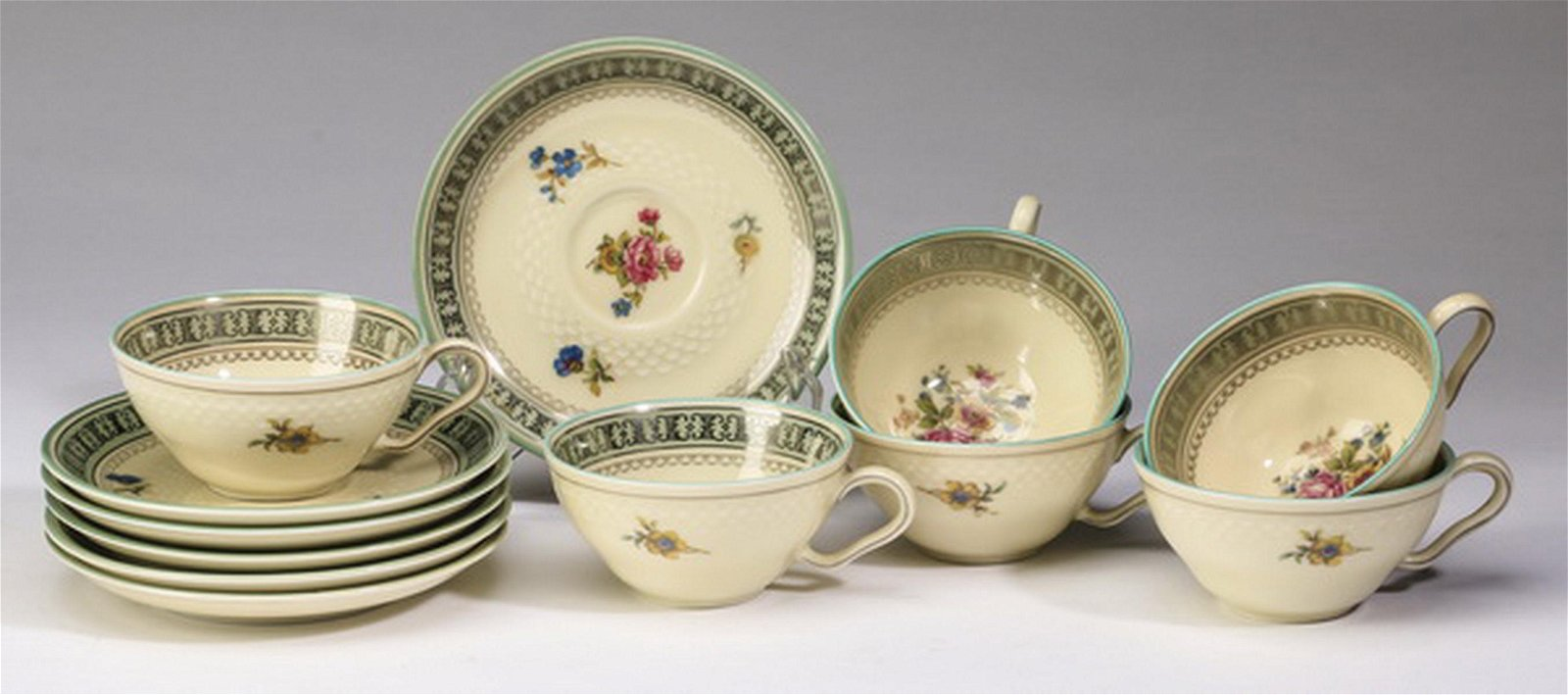 Six espresso cups and saucers, Thomas Ivory, Germany