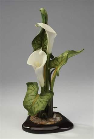 """Cybis limited edition porcelain 'Calla Lilies,' 16""""h"""