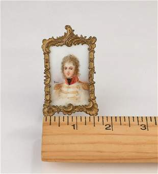 Hand painted porcelain miniature of Prince of Naples